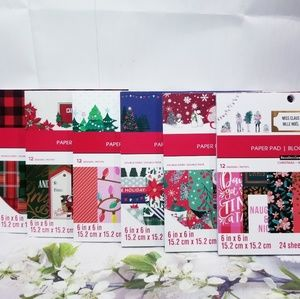 6 CHRISTMAS Design Paper Pad Set 6×6 inches New